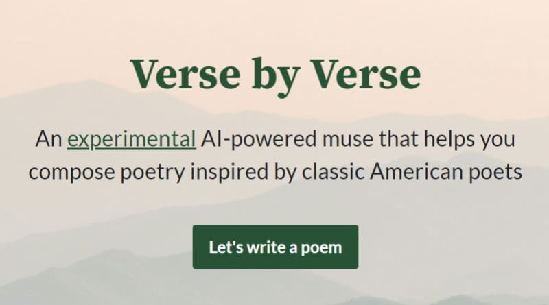 Verse by verse IA of poetry