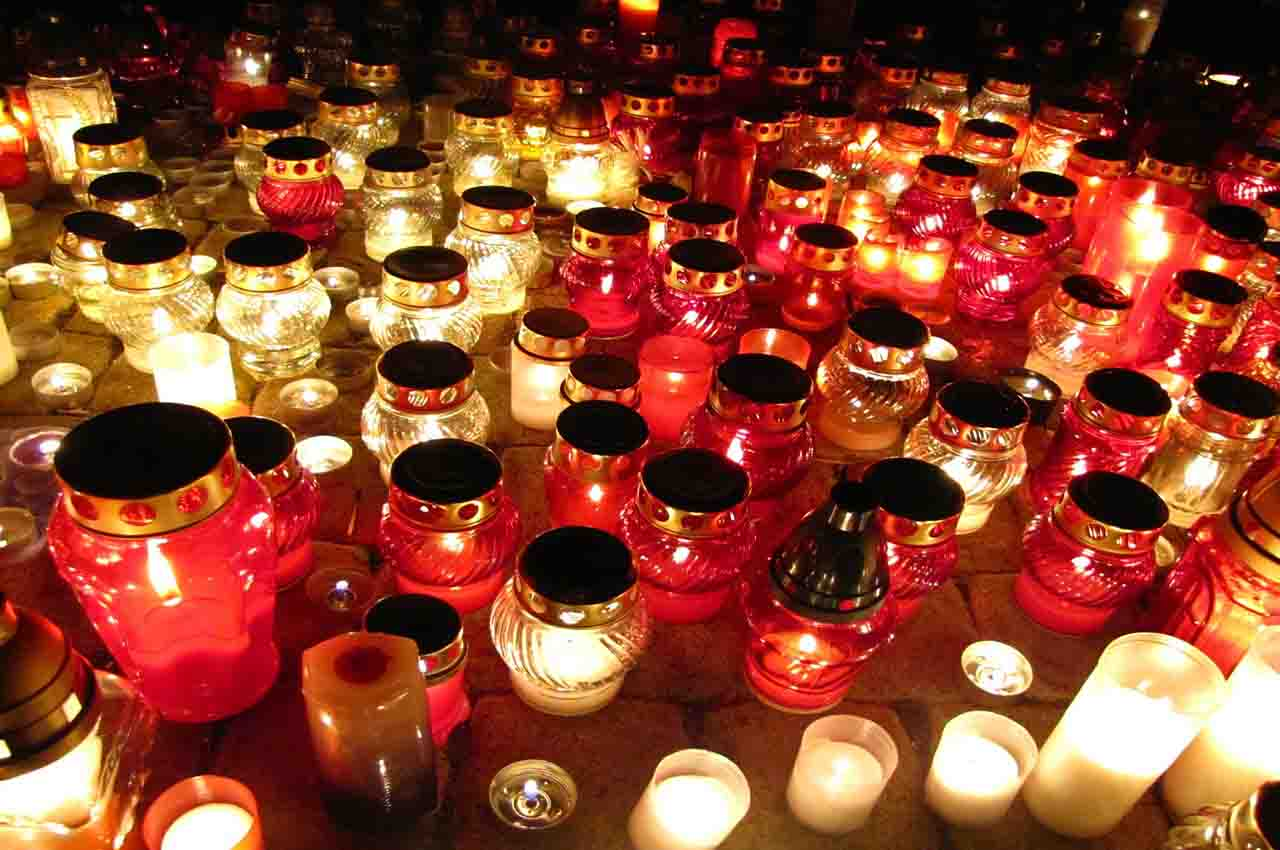 Candles to celebrate the Day of the Dead