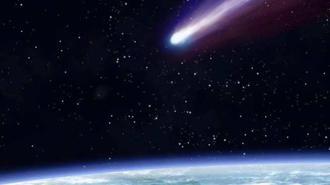 Halley's comet passes every 75 years.