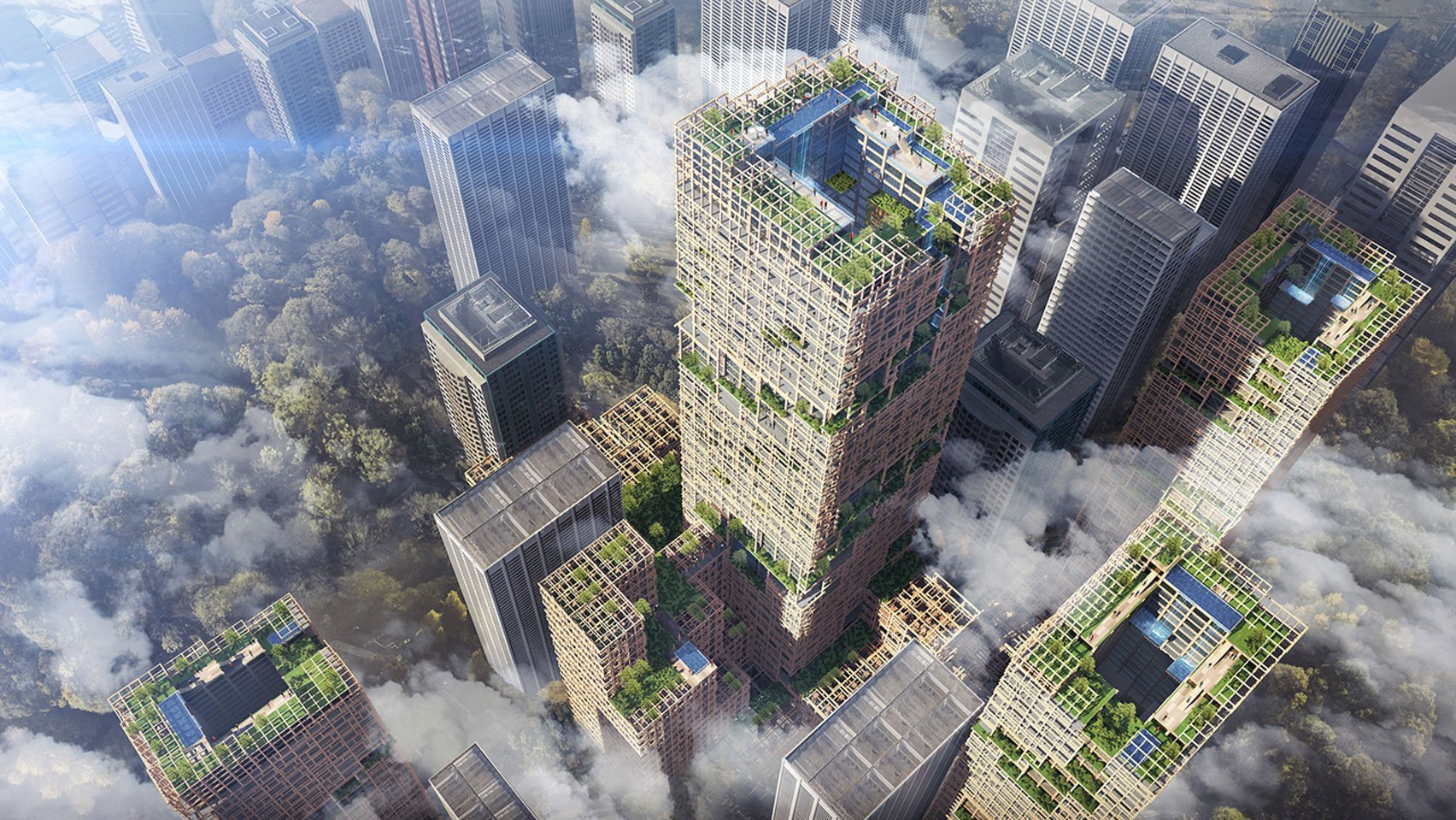 Another ambitious project is the first wooden skyscraper.