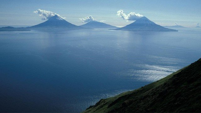 The islands of Alaska, which are a huge volcano, are a threat.