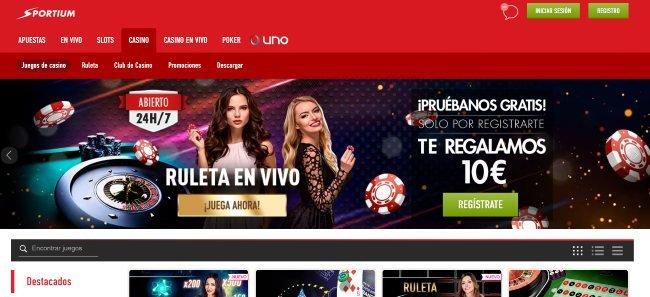 Sportium online casino.