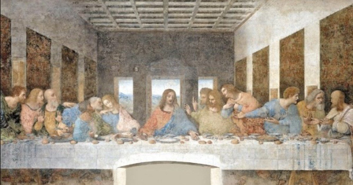 Even his famous painting of the Last Supper shows features of his eating preferences.