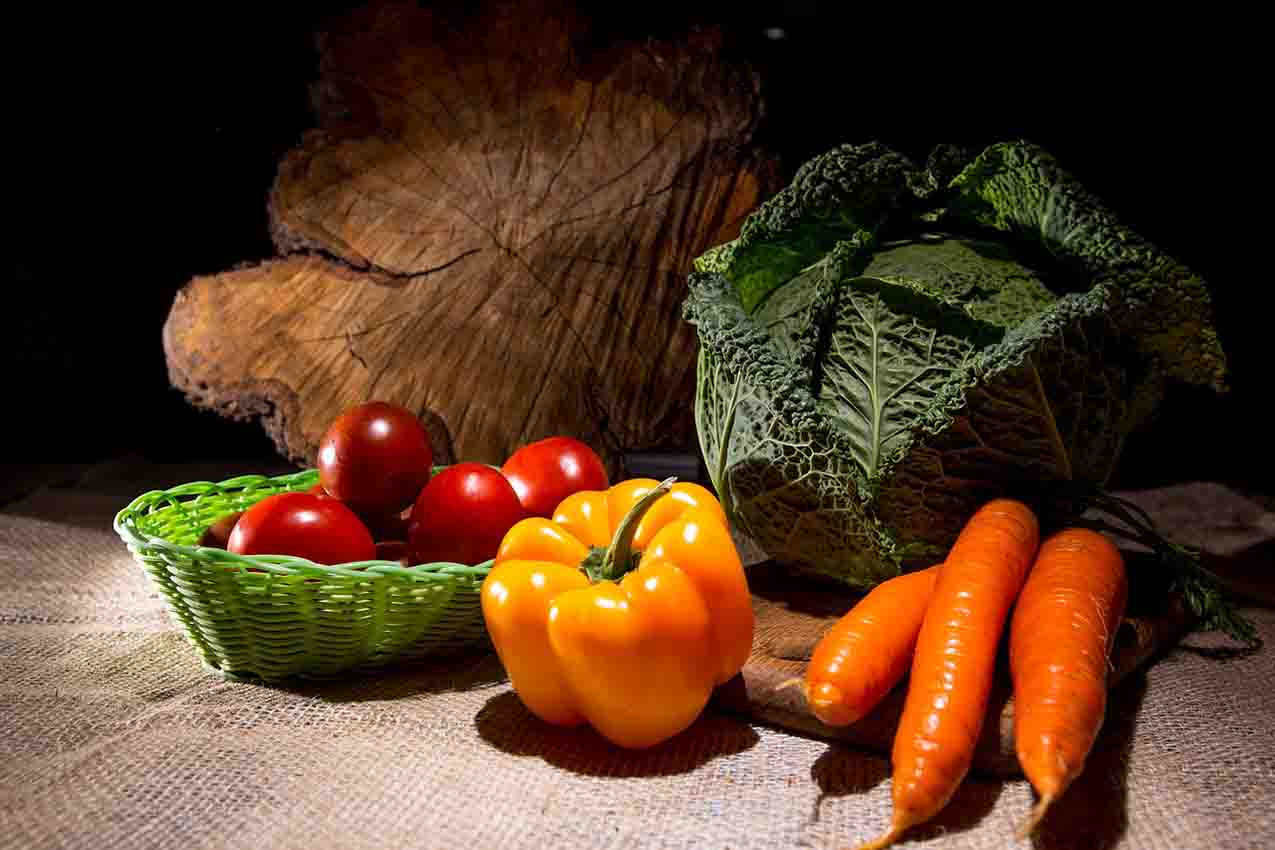 Vegetables in the Mediterranean diet