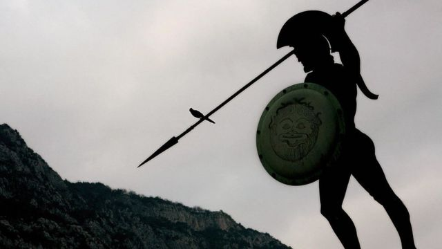 Leonidas, the mythical Spartan general, coined a famous phrase in this language.