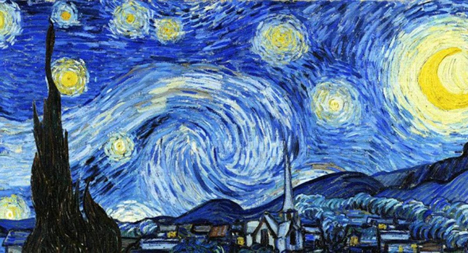 "The astronomical secrets of famous paintings appear, for example, in works like ""Starry Night""."