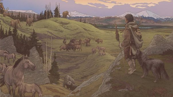 The first settlers in America were accompanied by their dogs, domesticated some time ago.