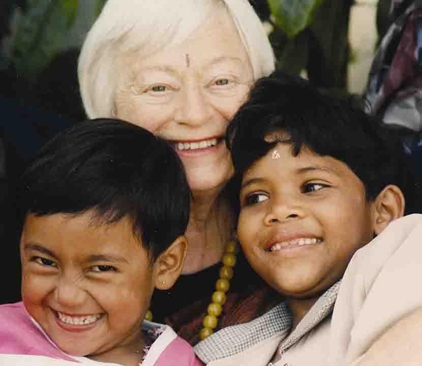 Olga Murray and the children of Nepal