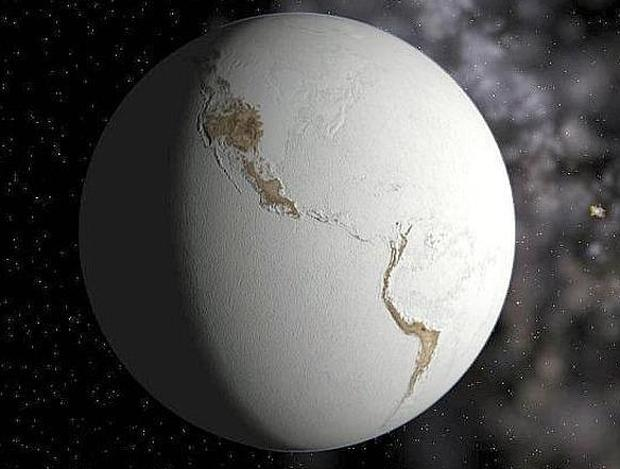 How did life on earth recover after it was almost frozen?