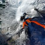 Lava flows seen from space
