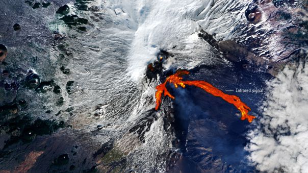 Lava flows from space give us an idea of ​​the size of the eruptions.