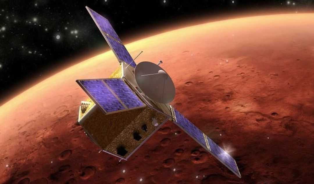 The Hope probe reached Mars' orbit on the first Arab interplanetary mission.