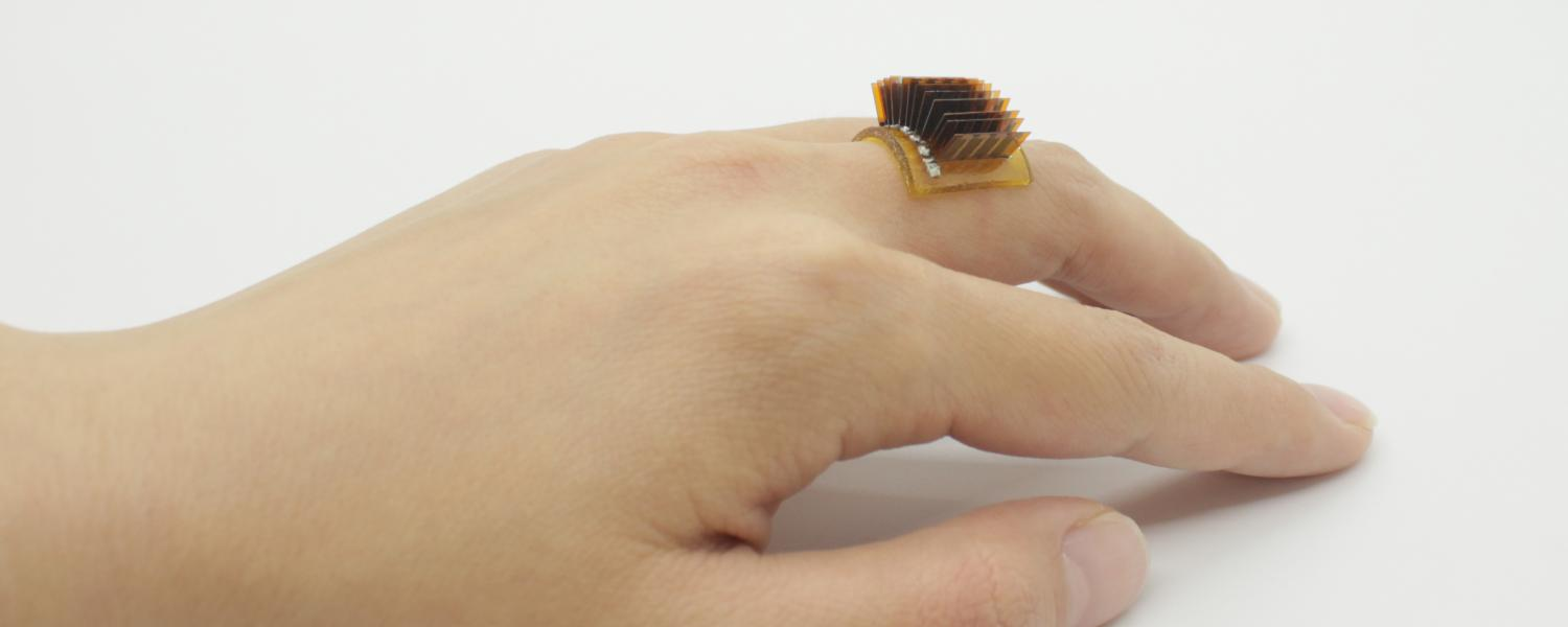 The ring, charged with human warmth, has a design that some would consider futuristic.