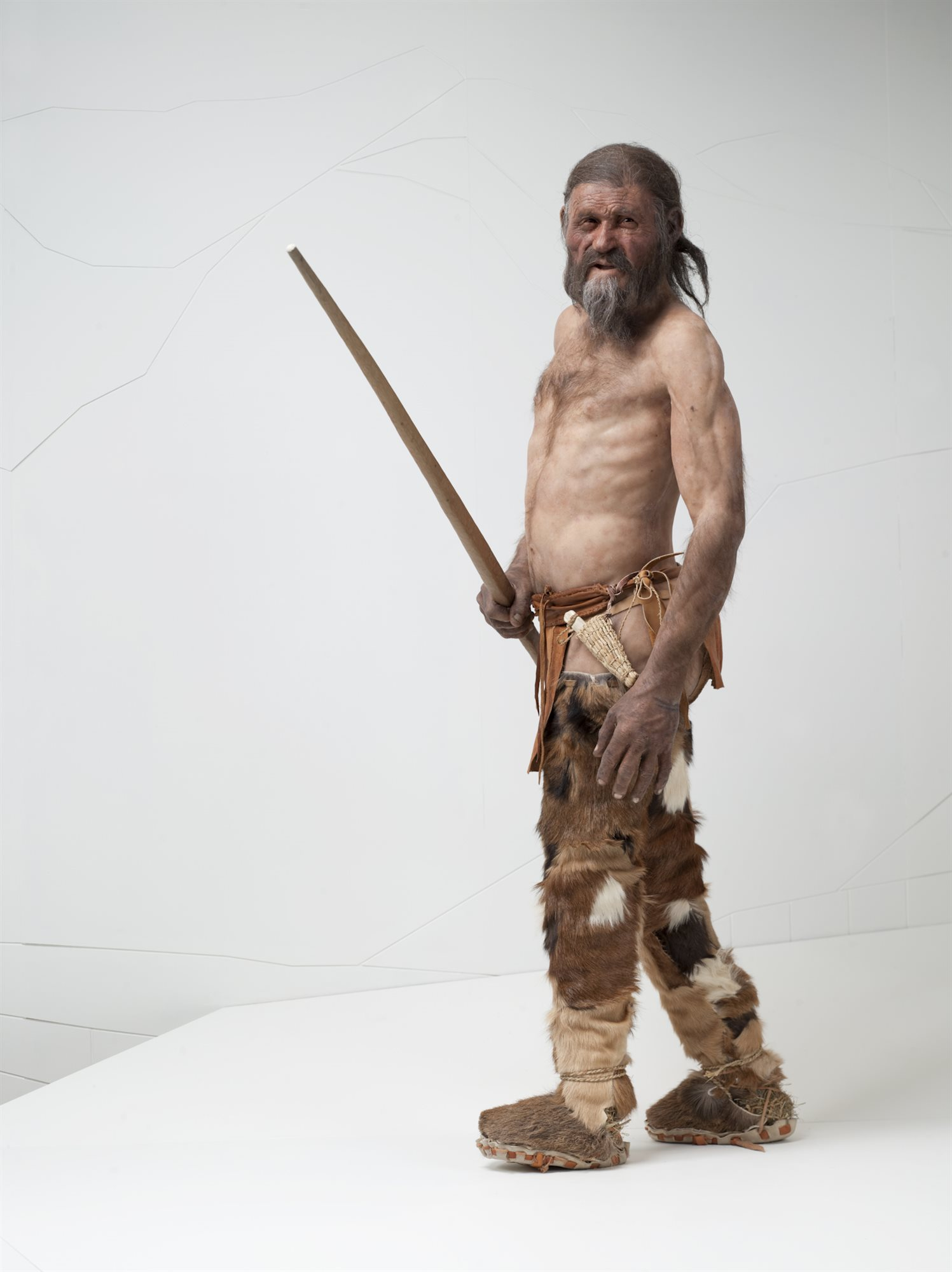 This is the reconstruction of the man who lived 5000 years ago.