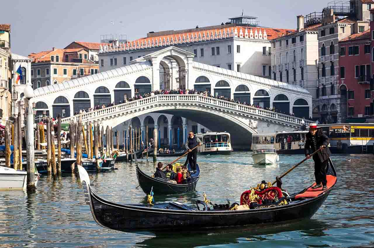 Venice connected to the floating city by bridges
