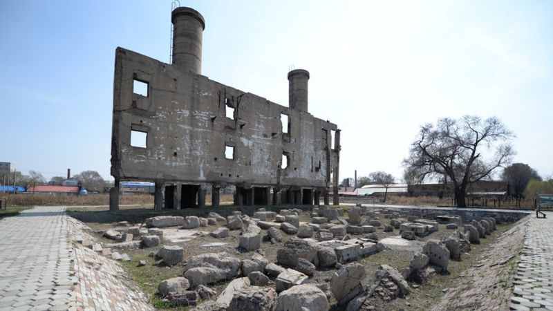 These are the ruins of one of the Unit 731 buildings in Harbin City, northern China.