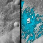 The reaction that water could produce on the moon