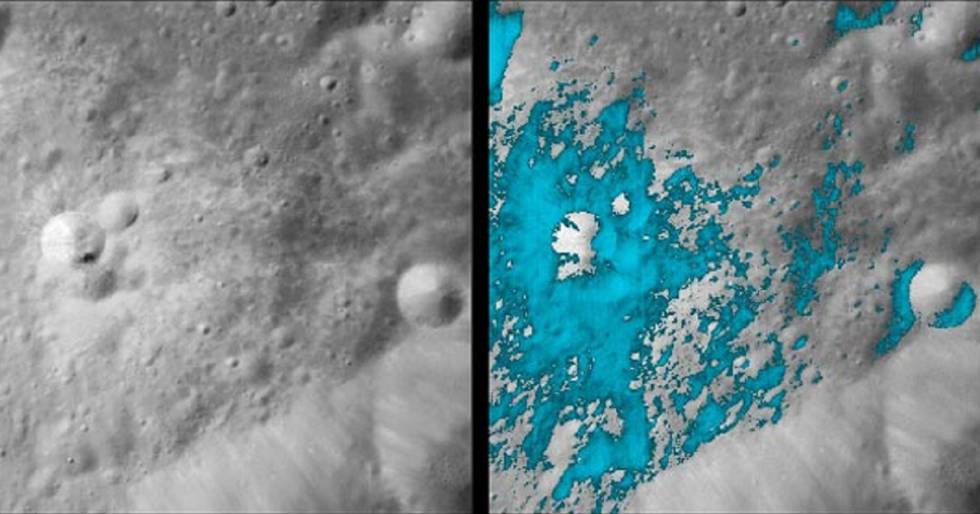 The reaction that water could produce on the moon turned out to be very simple.
