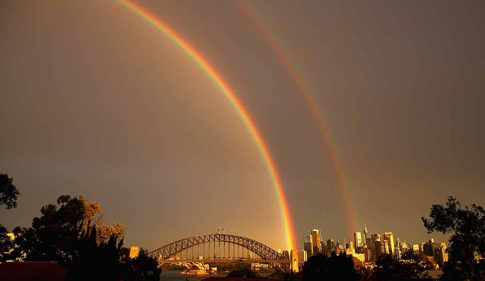 Rainbow often draws attention and attracts the eye of passers-by.
