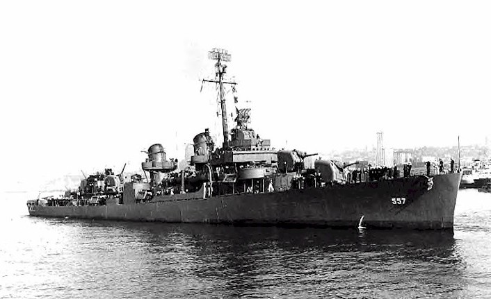 The powerful destroyer sank in World War II.