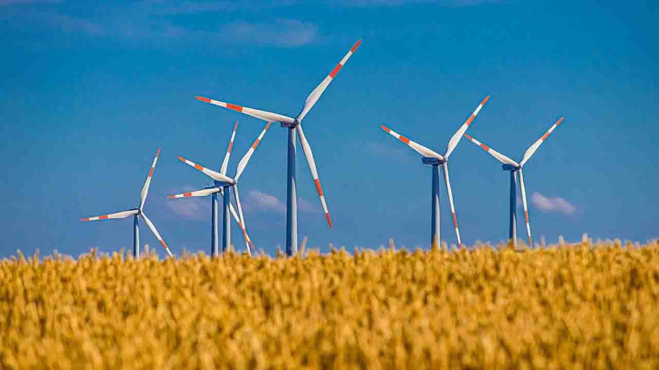 Wind power produces green hydrogen