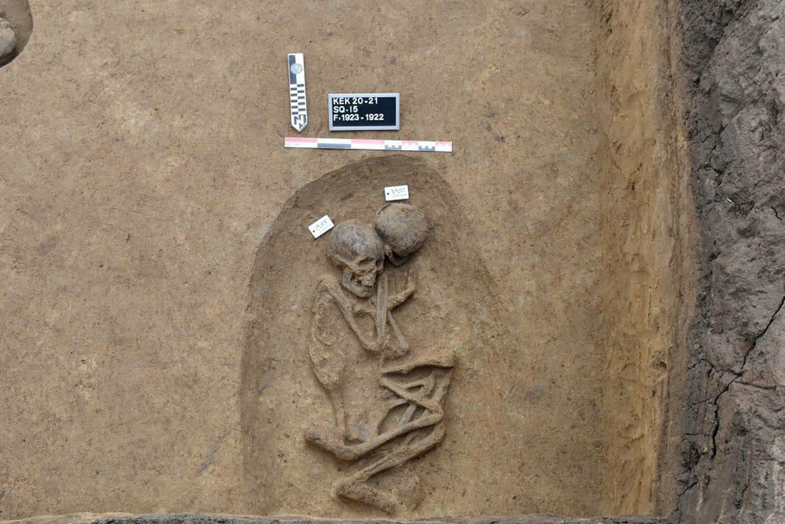 This is another oval tomb that was discovered.