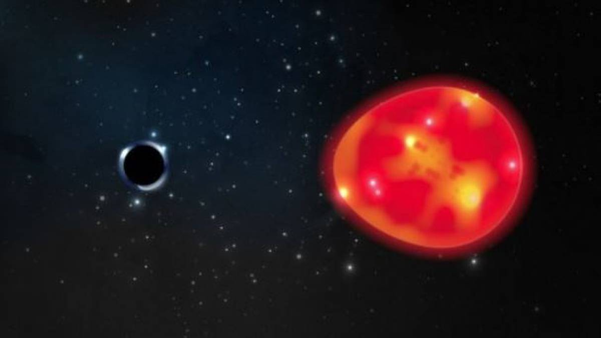 The smallest hole in the record deforms a star.
