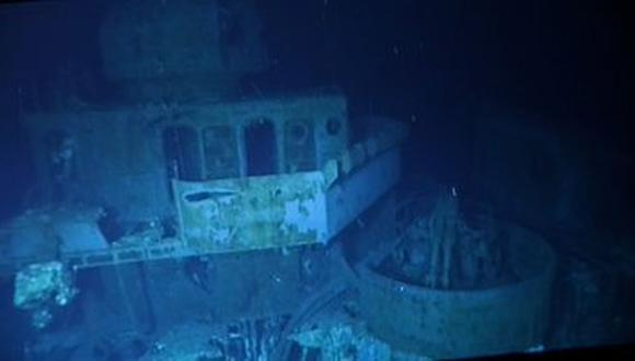 This is the picture of the deepest shipwreck in the world.