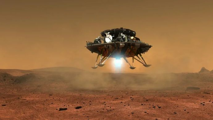 China's probe, which landed on Mars, is a landmark for that country.