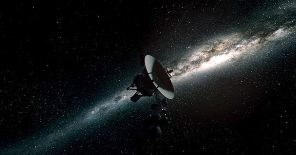 The Voyager probe detected a hum in space.  It's interstellar gas.