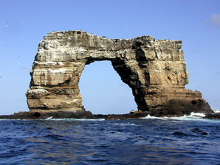 The collapse of the legendary Darwin Arch saddened visitors to the Galapagos Islands.