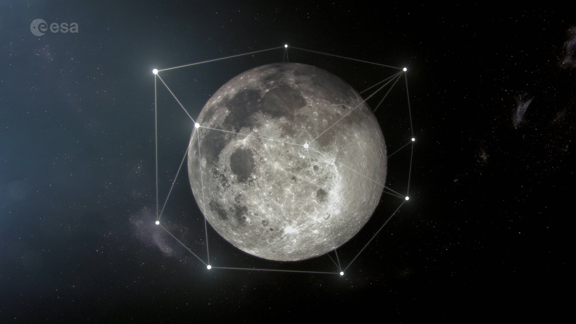 The plan to bring a satellite network to the moon is underway.