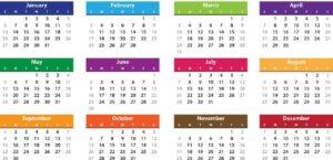 diferentes calendarios