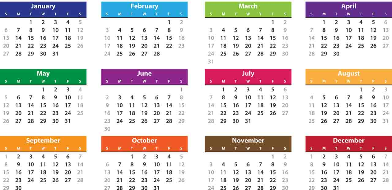 different calendars