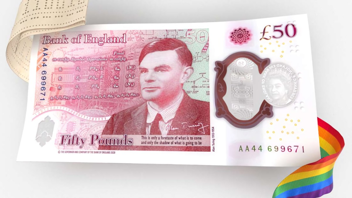 The banknote that pays tribute to Alan Turing partially restores justice.
