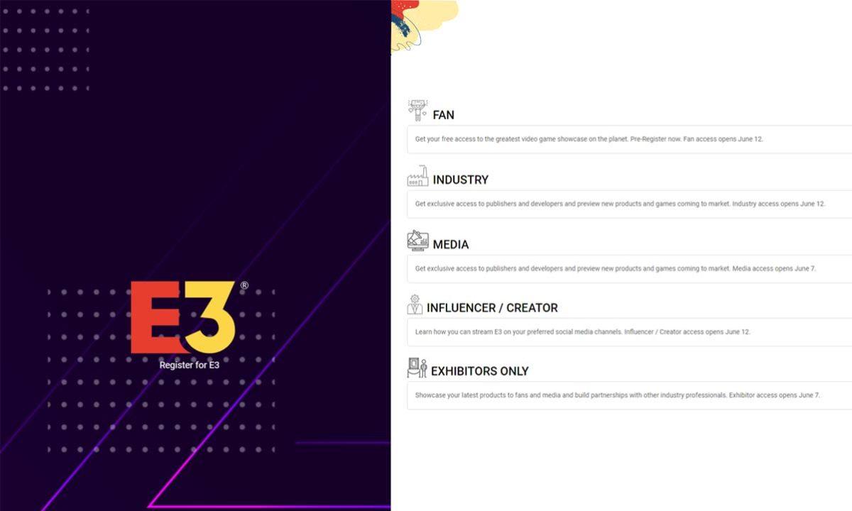 Participation in E3 2021