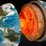 The core of the earth grows more than one side