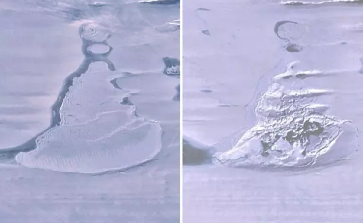 The gigantic lake of Antarctica has suddenly disappeared in pictures.