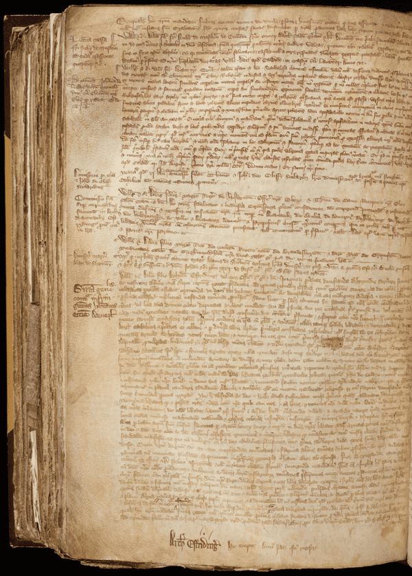 A Latin text tells of the lustful life of the stubborn nun.
