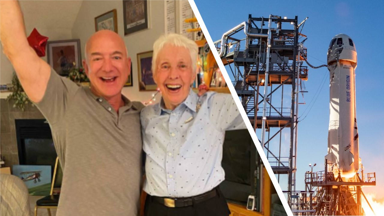 The 82-year-old aviator who will become an astronaut, Wally Funk.