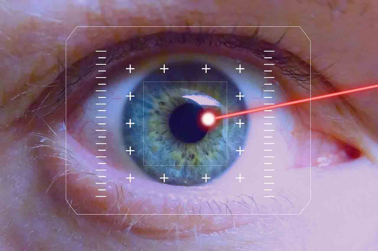 Dilation of the pupil