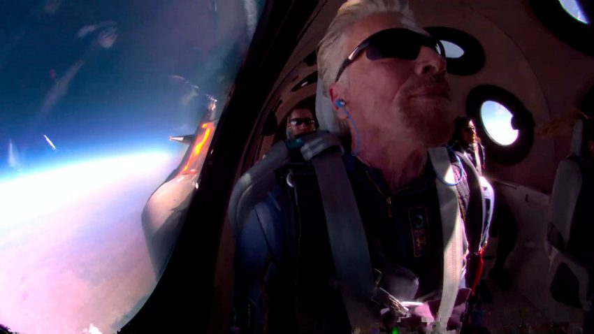 Richard Branson's flight into space, did he really go into space?