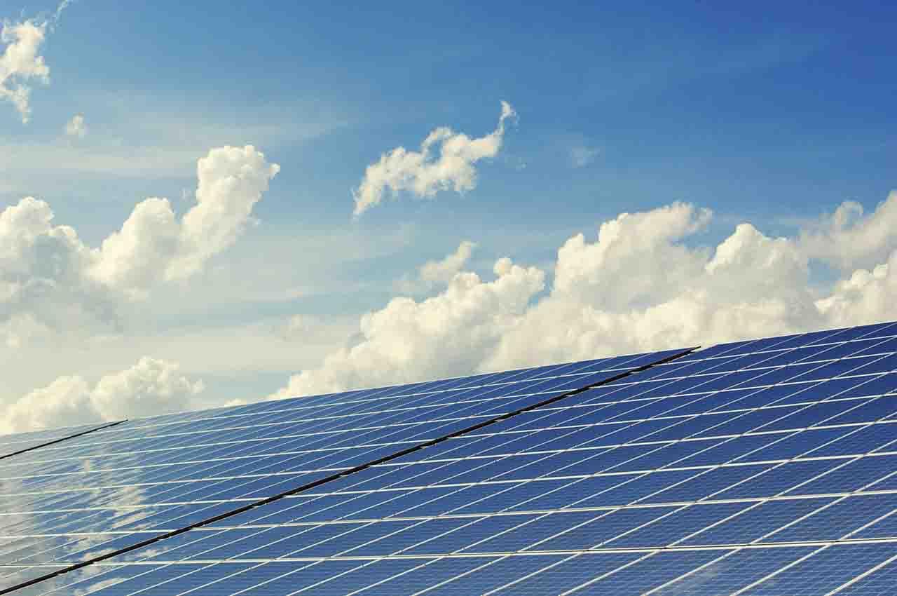 solar panels in the Sahara desert