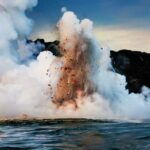 The risky meeting of lava and sea