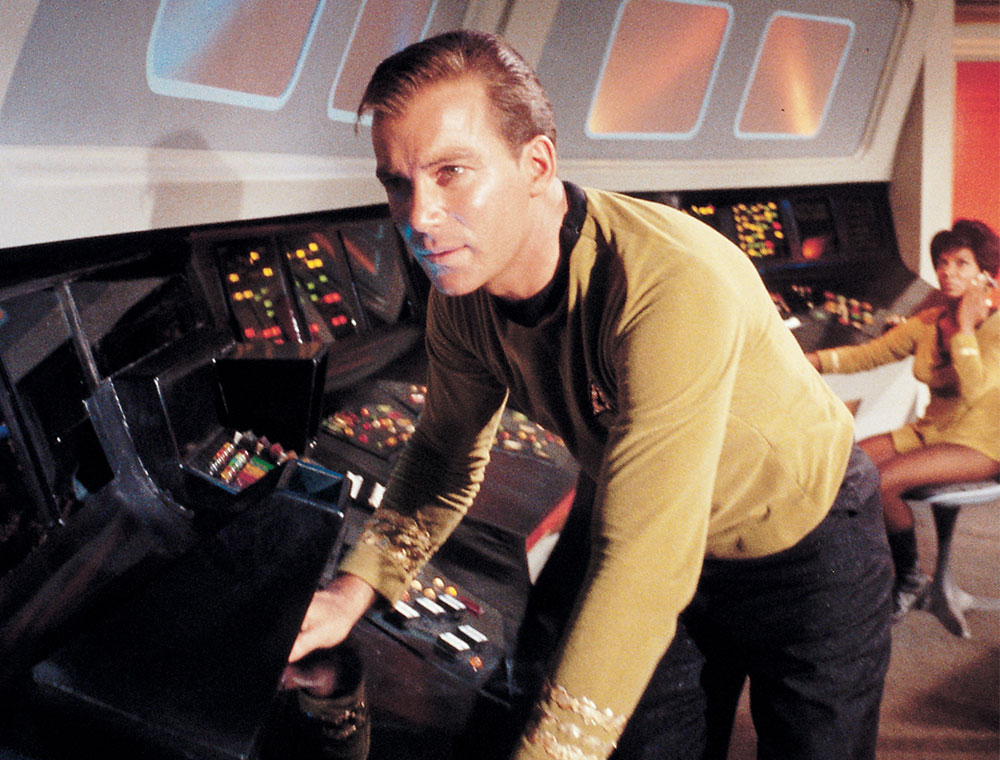 The actor became famous for his portrayal of James Kirk in Star Trek.