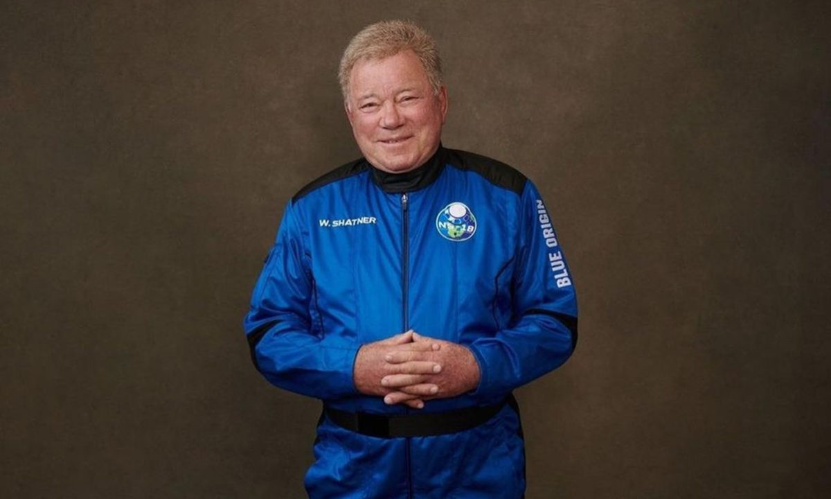 Captain Kirk finally went into space... in real life.